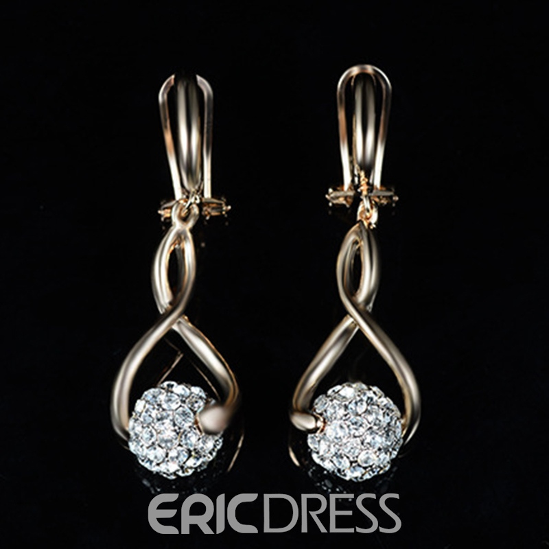 Ericdress Lucky Bead Diamante Shining Jewelry Set