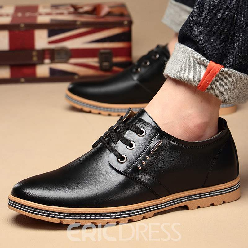 Ericdress Professional PU Lace-Up Low-Cut Men's Shoes