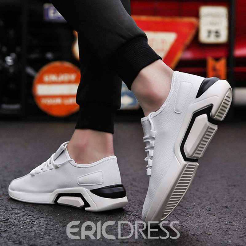 Ericdress PU BreathableLace-Up Men's Trainers