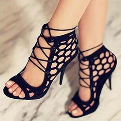 Ericdress Lace-Up Heel Covering Stiletto Sandals thumbnail