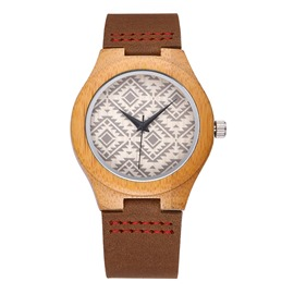 Ericdress Bamboo Wooden Quartz Watch