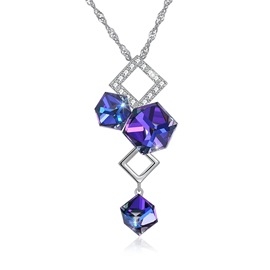 Ericdress Rhombus Bunch Crystal Charm Necklace