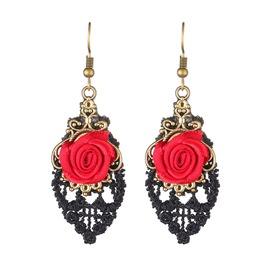 Ericdress Rose Lace Fashion Earrings