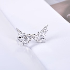 Ericdress Diamante Wing Ring