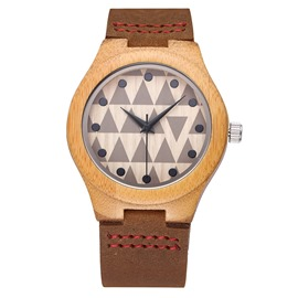 Ericdress Wooden Quartz Lover Watch