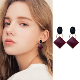 Ericdress Square Alloy Drop Earring
