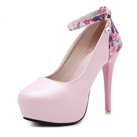 Ericdress Floral Print Platform Stiletto Heel Pumps