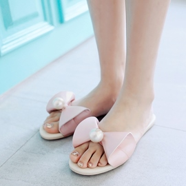 Ericdress Beads Buckle Slip-On Block Heel Mules Shoes