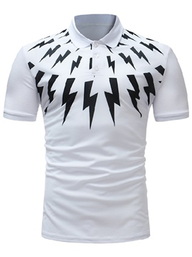 ericdress lightning impreso slim fit camiseta de polo para hombre