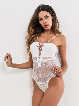 Ericdress Front Strap Tight Wrap Hollow Sexy Teddy Bodysuit