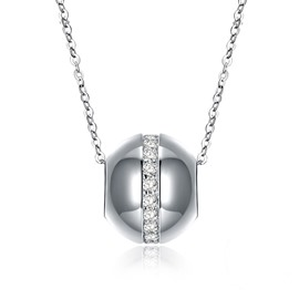 Ericdress Diamante Beads Silver Necklace