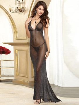 Ericdress Floor-Length Deep-V Flash Mesh Sexy Lingerie