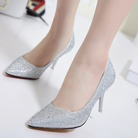 Ericdress Rhinestone Pointed Toe Stiletto Heel Pumps