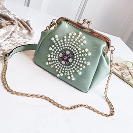 Ericdress Plain New Pearl Women Crossbody Bag