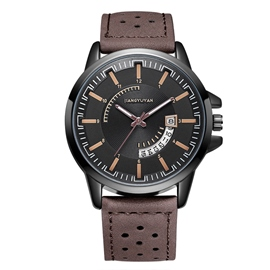 Ericdress JYY Leather Belts Quartz Man Watch