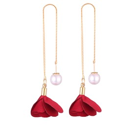 Ericdress Rose Pearl Fashion Earring