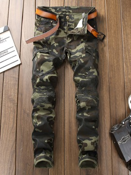 Ericdress Camouflage Skinny Mens Straight Casual Pants
