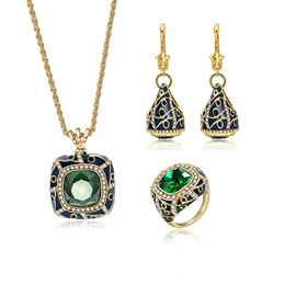Ericdress Sqaue Cut Gems Jewelry Set
