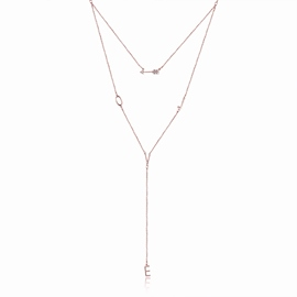 Ericdress Love's Arrow Silver Necklace