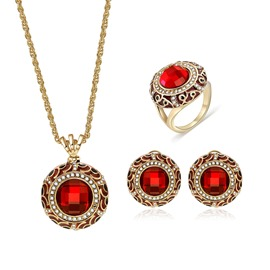 Ericdress Round Ruby Jewelry Set