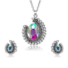 Ericdress Silver Diamante Screw Type Jewelry Set