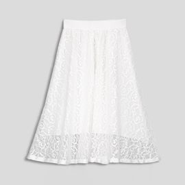 Plain Lace A Line Women's Skirt