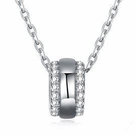 Ericdress Diamante shinning Silver Necklace