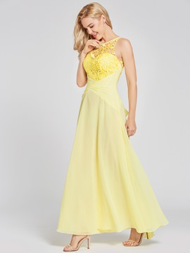 Ericdress A Line Chiffon Backless Prom Dress