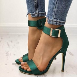 Ericdress Open Toe Line-Style Buckle Low-Cut Stiletto Sandals