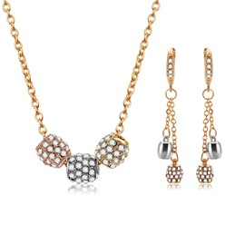 Ericdress Lucky Beads Diamante Jewelry Set