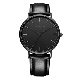 Ericdress JYY Minimalist Black Lover Watch For Men&Women