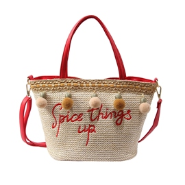 EricdressGrass Knitted Women Tote Bag