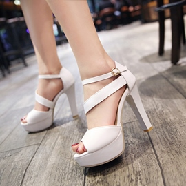 Ericdress Buckle Platform Peep Toe Chunky Sandals