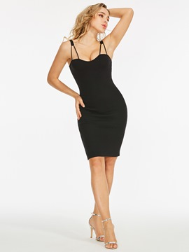 Spaghetti Strap Bodycon Sexy Dress