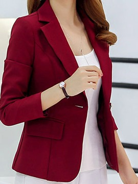 ericdress Frauen Plain Slim Blazer