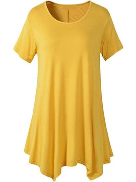 Ericdress Women's Roll-up Mid-Length Tee Shirt