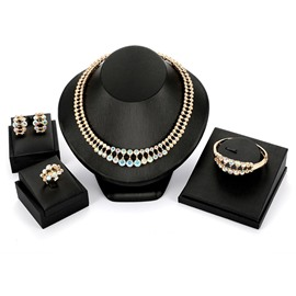 Ericdress Colorful Diamante Shining Jewelry Set