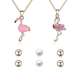 Ericdress Pink Flamingo Jewelry Set