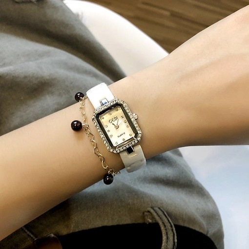 Ericdress Ceramic Diamante Quartz Watch