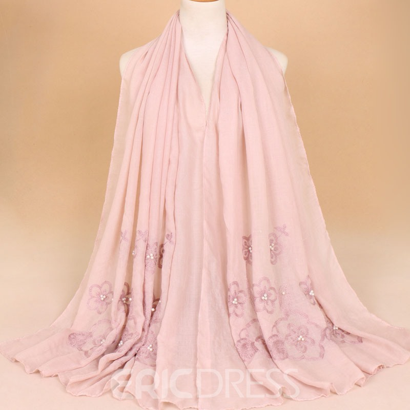 Ericdress Embroider Lace Pearl Scarf