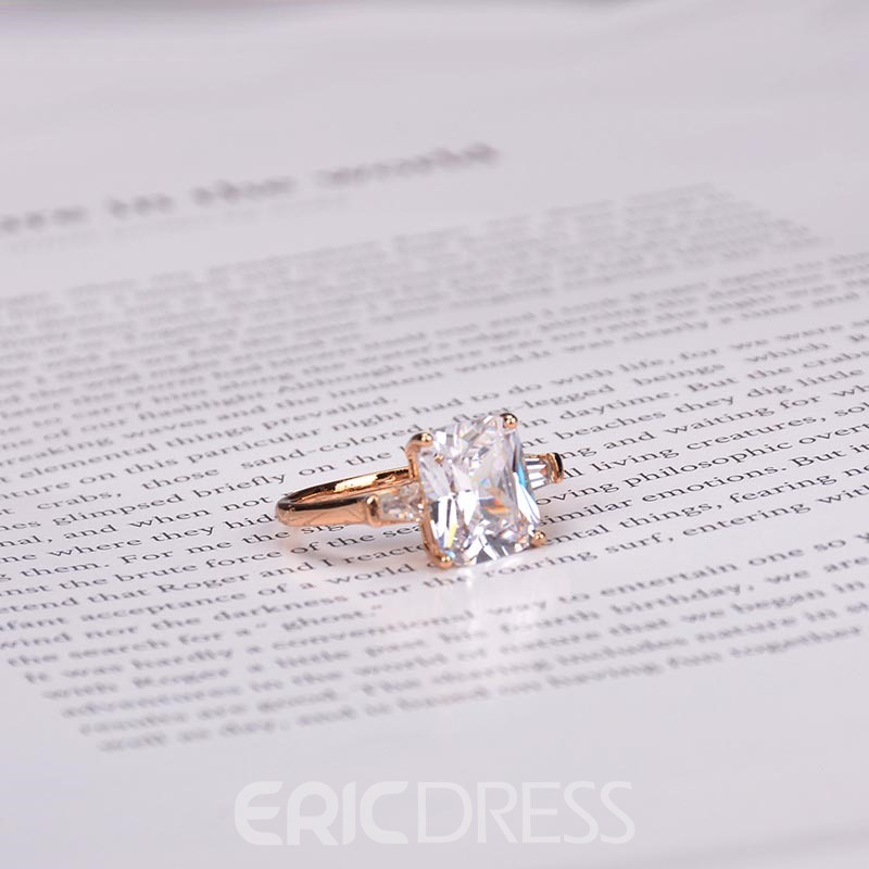 Ericdress 18K Gold Zircon Ring
