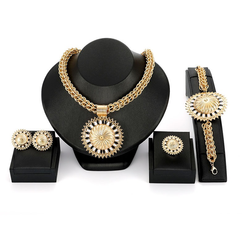 Ericdress Sunflower Diamante Jewelry Set