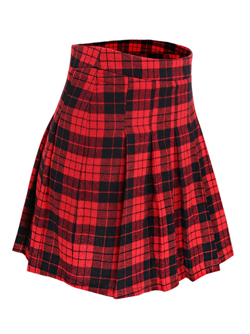Ericdress Plaid Vest and Mini Skirt Women's Two Piece Set