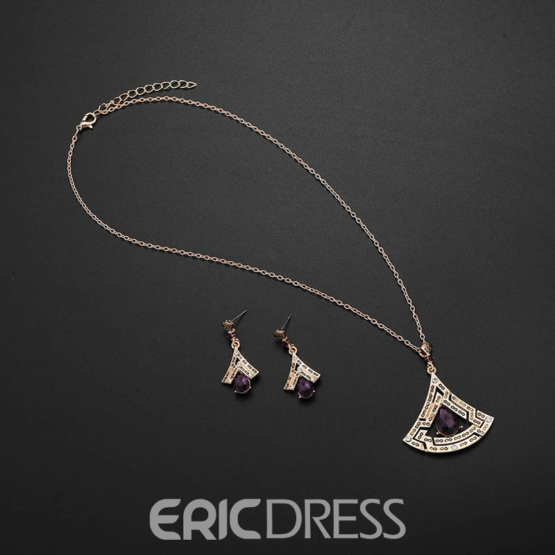 Ericdress Sector Amethyst Jewelry Set