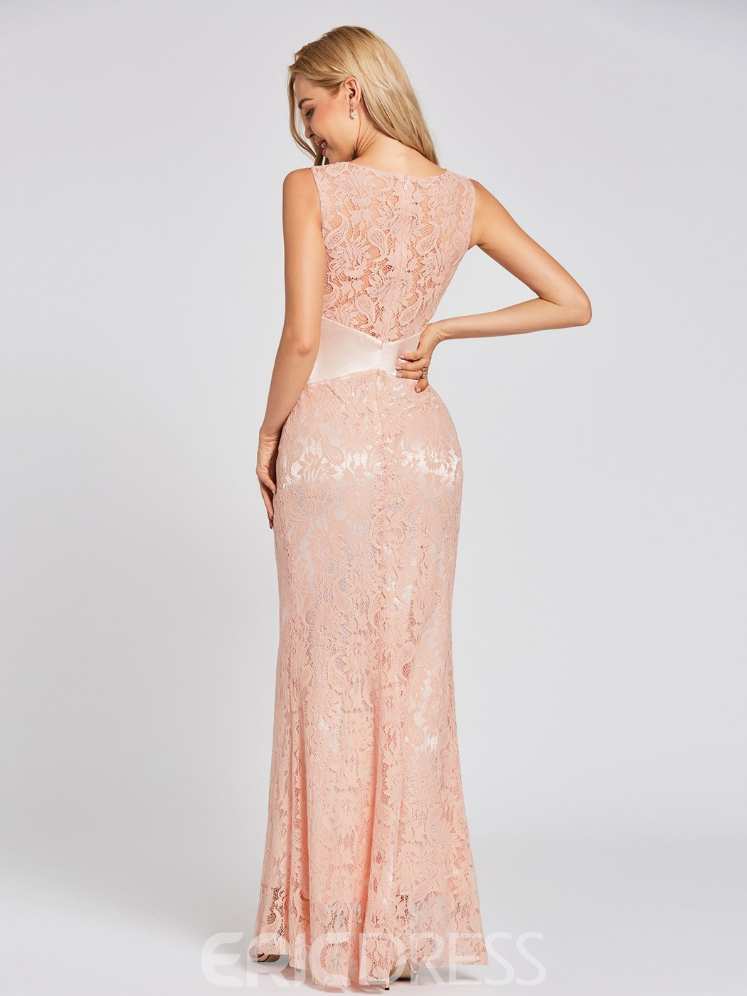 Ericdress Scoop Neck Mermaid Lace Evening Dress