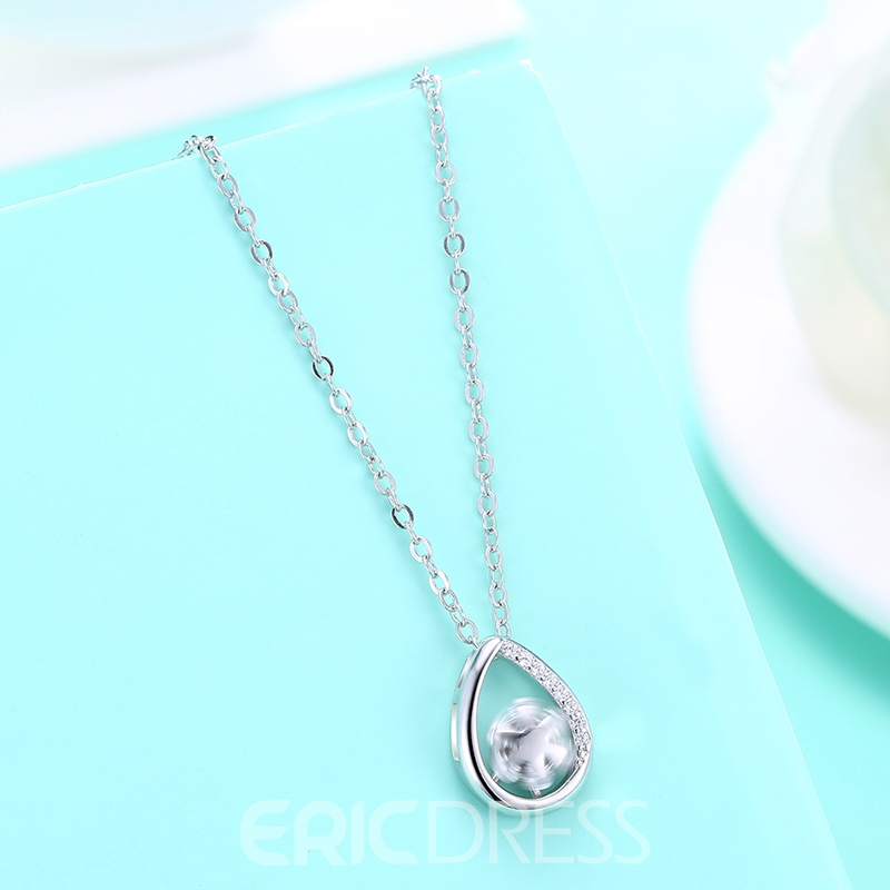 Ericdress Star Hollow Out Silver Necklace