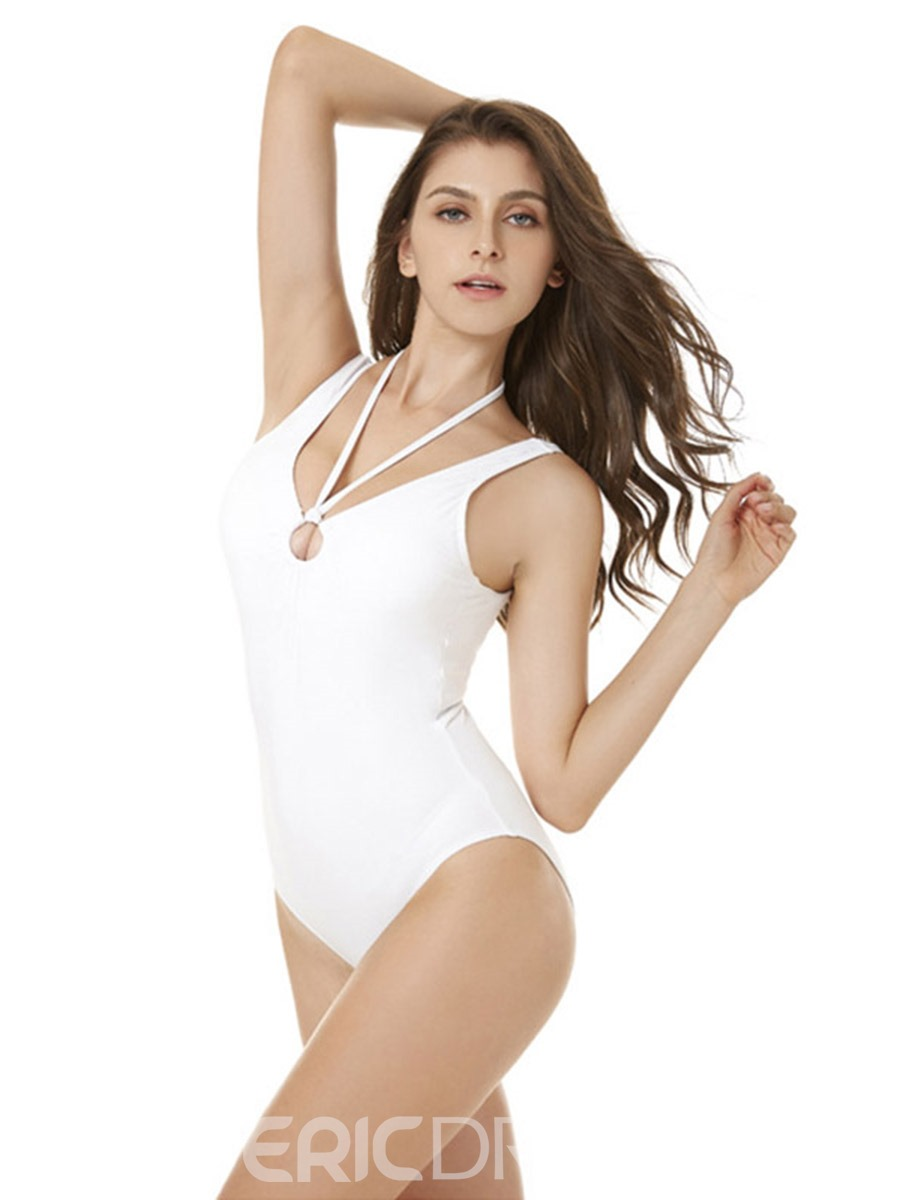 Ericdress Plain Sexy One Piece Bathing Suits