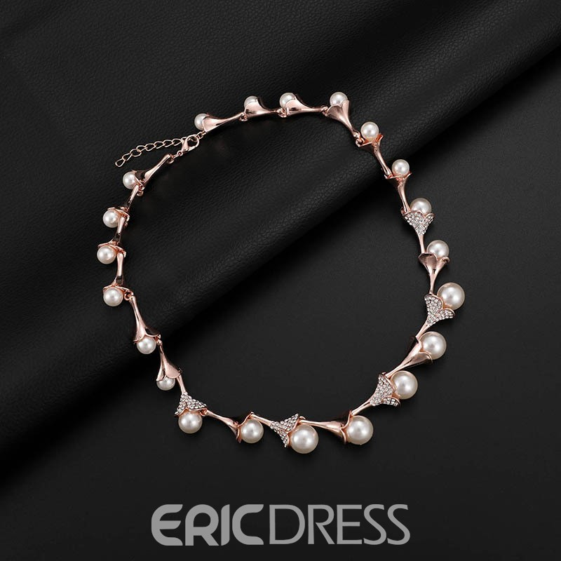 Ericdress Pearl Waterdrop Diamanate Jewelry Sets
