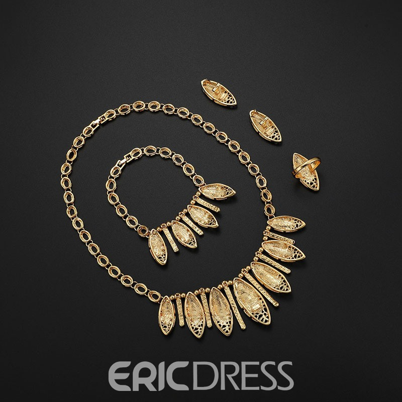 Ericdress Sculpture Leafage Alloy Jewery Set