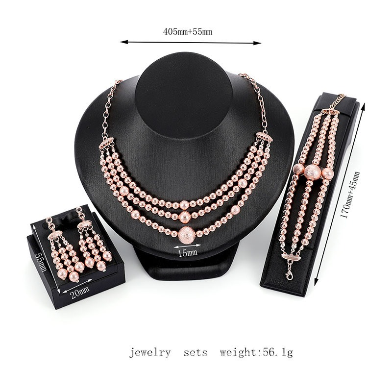 Ericdress Multilayer Pearl Luxury Jewelry Set